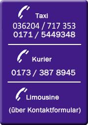 Kontakt Taxi-Lindner